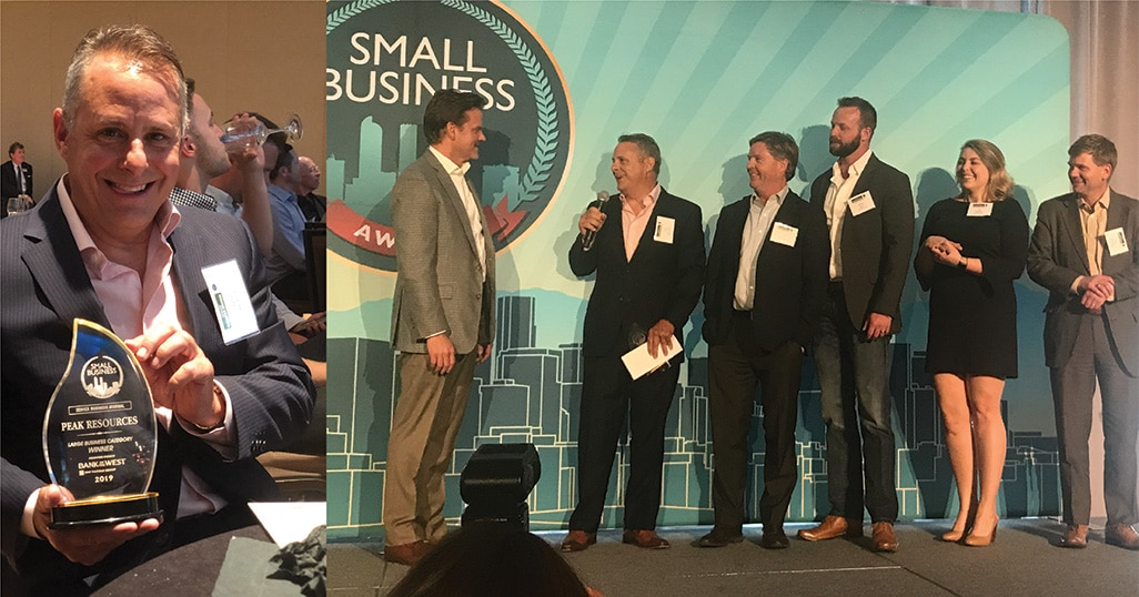PEAK Awarded Denver Business Journal's 2019 Small Business Of The Year!