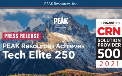 PEAK Named to SP 500 List by CRN for the 20th Time